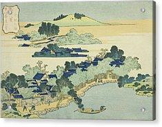 Sacred Fountain At Castle Peak Acrylic Print by Hokusai