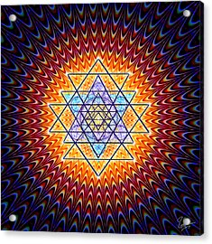 Sacred Geometry 141 Acrylic Print by Endre Balogh