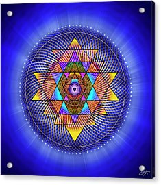 Acrylic Print featuring the digital art Sacred Geometry 705 by Endre Balogh