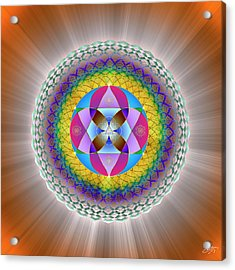 Acrylic Print featuring the digital art Sacred Geometry 706 by Endre Balogh
