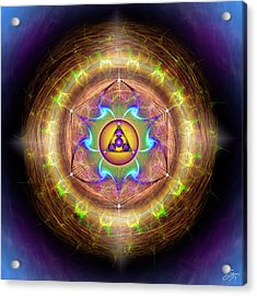 Acrylic Print featuring the digital art Sacred Geometry 707 by Endre Balogh