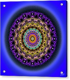 Acrylic Print featuring the digital art Sacred Geometry 708 by Endre Balogh