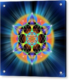 Acrylic Print featuring the digital art Sacred Geometry 709 by Endre Balogh
