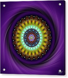 Acrylic Print featuring the digital art Sacred Geometry 710 by Endre Balogh
