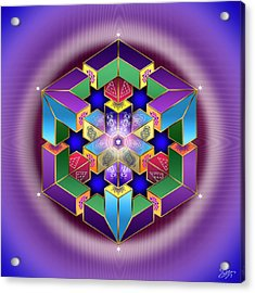 Acrylic Print featuring the digital art Sacred Geometry 711 by Endre Balogh