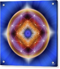 Acrylic Print featuring the digital art Sacred Geometry 712 by Endre Balogh