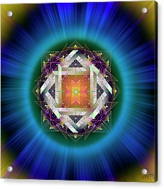 Acrylic Print featuring the digital art Sacred Geometry 714 by Endre Balogh