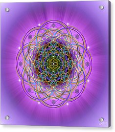 Acrylic Print featuring the digital art Sacred Geometry 715 by Endre Balogh