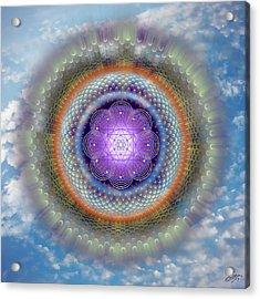 Acrylic Print featuring the digital art Sacred Geometry 716 by Endre Balogh