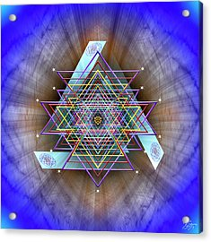Acrylic Print featuring the digital art Sacred Geometry 717 by Endre Balogh