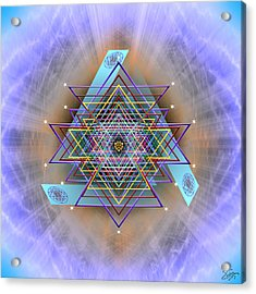 Acrylic Print featuring the digital art Sacred Geometry 717 Version 2 by Endre Balogh