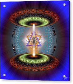 Acrylic Print featuring the digital art Sacred Geometry 718 by Endre Balogh