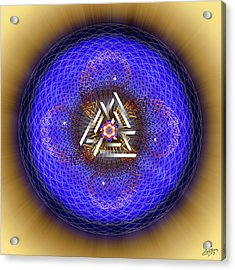 Acrylic Print featuring the digital art Sacred Geometry 719 by Endre Balogh