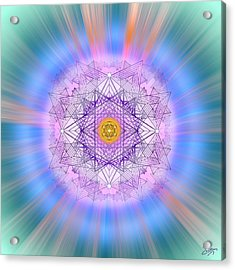 Acrylic Print featuring the digital art Sacred Geometry 720 by Endre Balogh