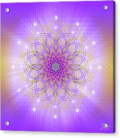Acrylic Print featuring the digital art Sacred Geometry 721 by Endre Balogh