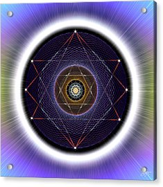 Acrylic Print featuring the digital art Sacred Geometry 722 by Endre Balogh