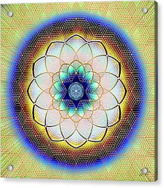 Acrylic Print featuring the digital art Sacred Geometry 723 by Endre Balogh