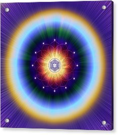 Acrylic Print featuring the digital art Sacred Geometry 724 by Endre Balogh
