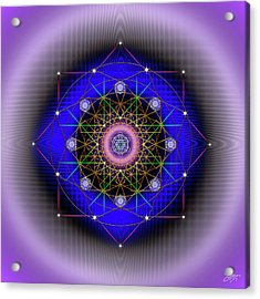 Acrylic Print featuring the digital art Sacred Geometry 725 by Endre Balogh