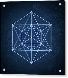 Sacred Geometry  Minimal Hipster Symbol Art Acrylic Print by Philipp Rietz