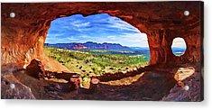 Sacred Ground - Shaman's Cave Acrylic Print