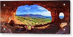 Sacred Ground - Shaman's Cave Acrylic Print by ABeautifulSky Photography