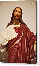 Sacred Heart Of Christ Acrylic Print by Michelle Hastings