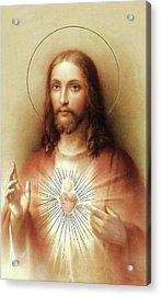 Sacred Heart Of Jesus Acrylic Print