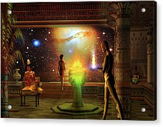 Acrylic Print featuring the digital art Sacred Journey To Another World by Shadowlea Is