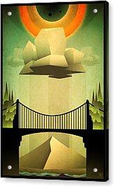 Sacred Sun Shower Acrylic Print by Milton Thompson