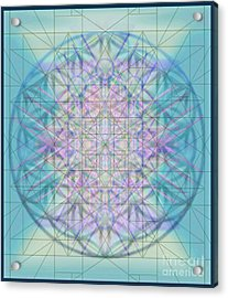 Sacred Symbols Out Of The Void 4b Acrylic Print by Christopher Pringer