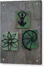 Sacred Trio Acrylic Print by Michele Palenik