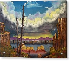 Sacred View Acrylic Print by Patrick Trotter