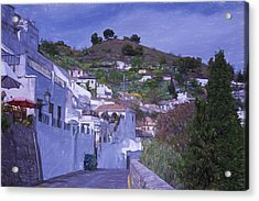 Sacromonte Neighborhood Granada Spain Acrylic Print by Joan Carroll