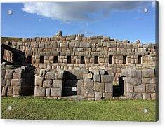 Sacsaywaman Cusco, Peru Acrylic Print by Aidan Moran