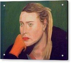 Sad Maria Acrylic Print by Peter Gartner