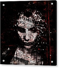 Acrylic Print featuring the digital art Sad News by Marian Voicu