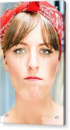 Sad Acrylic Print by Jorgo Photography - Wall Art Gallery