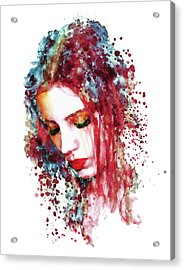 Sad Woman Acrylic Print