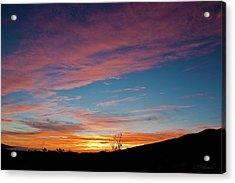 Saddle Road Sunset Acrylic Print
