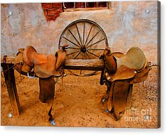 Saddle Town Acrylic Print