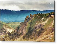 Saddlerock Mountain Acrylic Print by Jean OKeeffe Macro Abundance Art