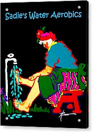 Sadie's Water Aerobics  Acrylic Print