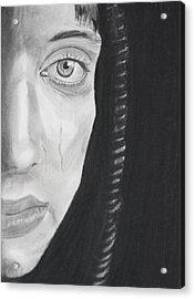 Sadness Acrylic Print by Cathy Jourdan