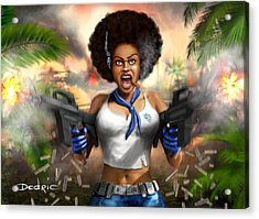 Safari Blue Acrylic Print