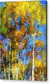 Safari Mosaic Abstract Art Acrylic Print by Christina Rollo
