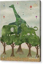 Acrylic Print featuring the painting Safari Wood by Bri B