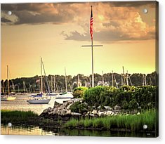 Acrylic Print featuring the photograph Safe Harbor Bristol Ri by Tom Prendergast