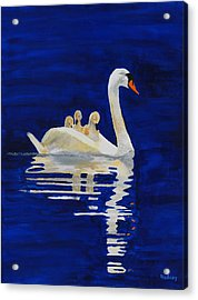 Acrylic Print featuring the painting Safe Harbor by Rodney Campbell