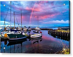 Acrylic Print featuring the photograph Safe Harbor by TL  Mair